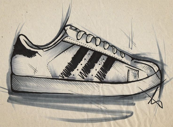 Hand Drawings of their ideas/ products Sneakers drawing