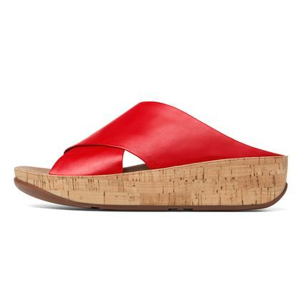 1d501706f404 Kys Leather FF Red Fit Flop  130