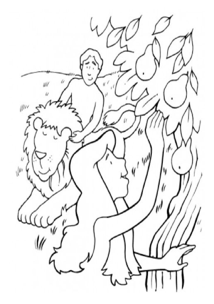 Colorea estos preciosos dibujos de la historia de Adán y Eva ...