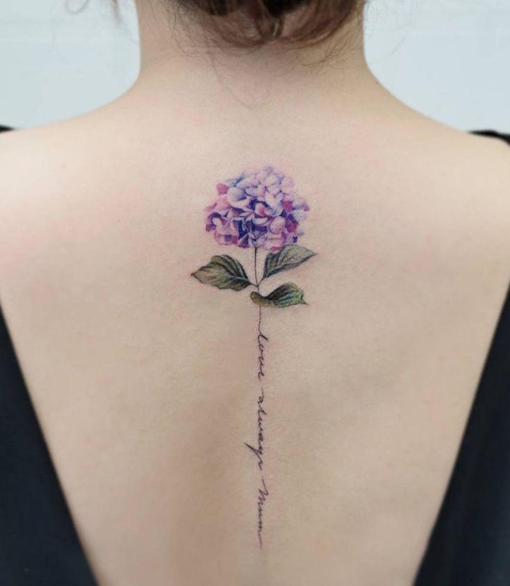 Hydrangea Tattoo Tattoos Lilac Tattoo Hydrangea Tattoo Flower Spine Tattoos