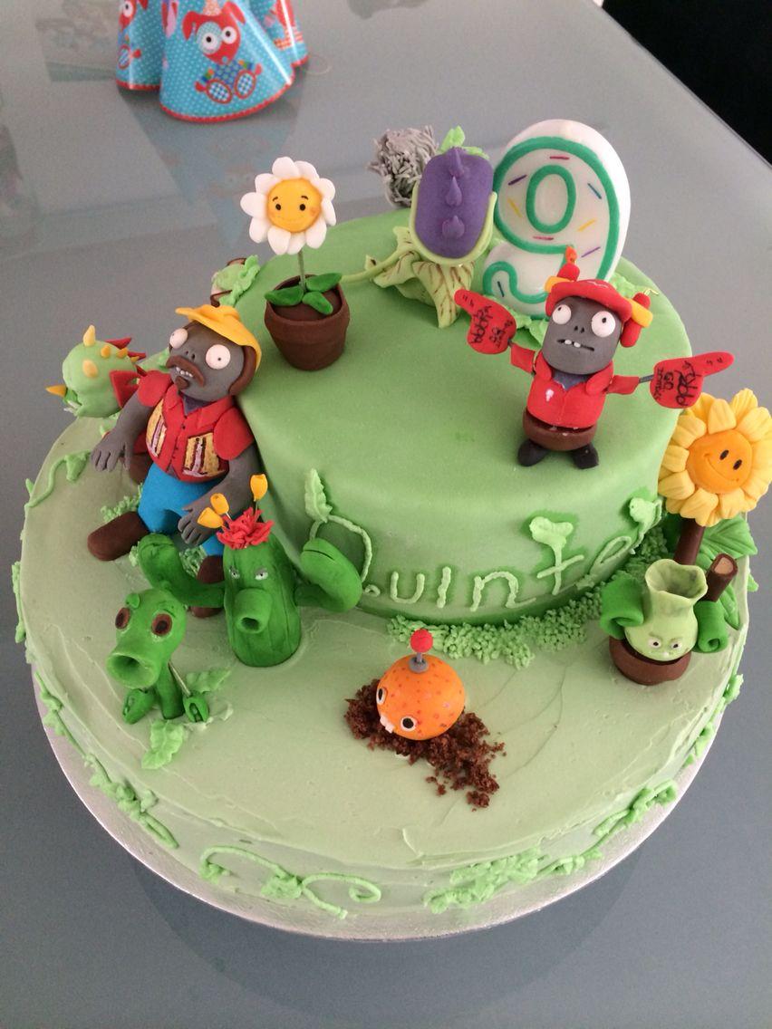 Plants Vs Zombies Birthday Cake Cakes Pies Pinterest Plants