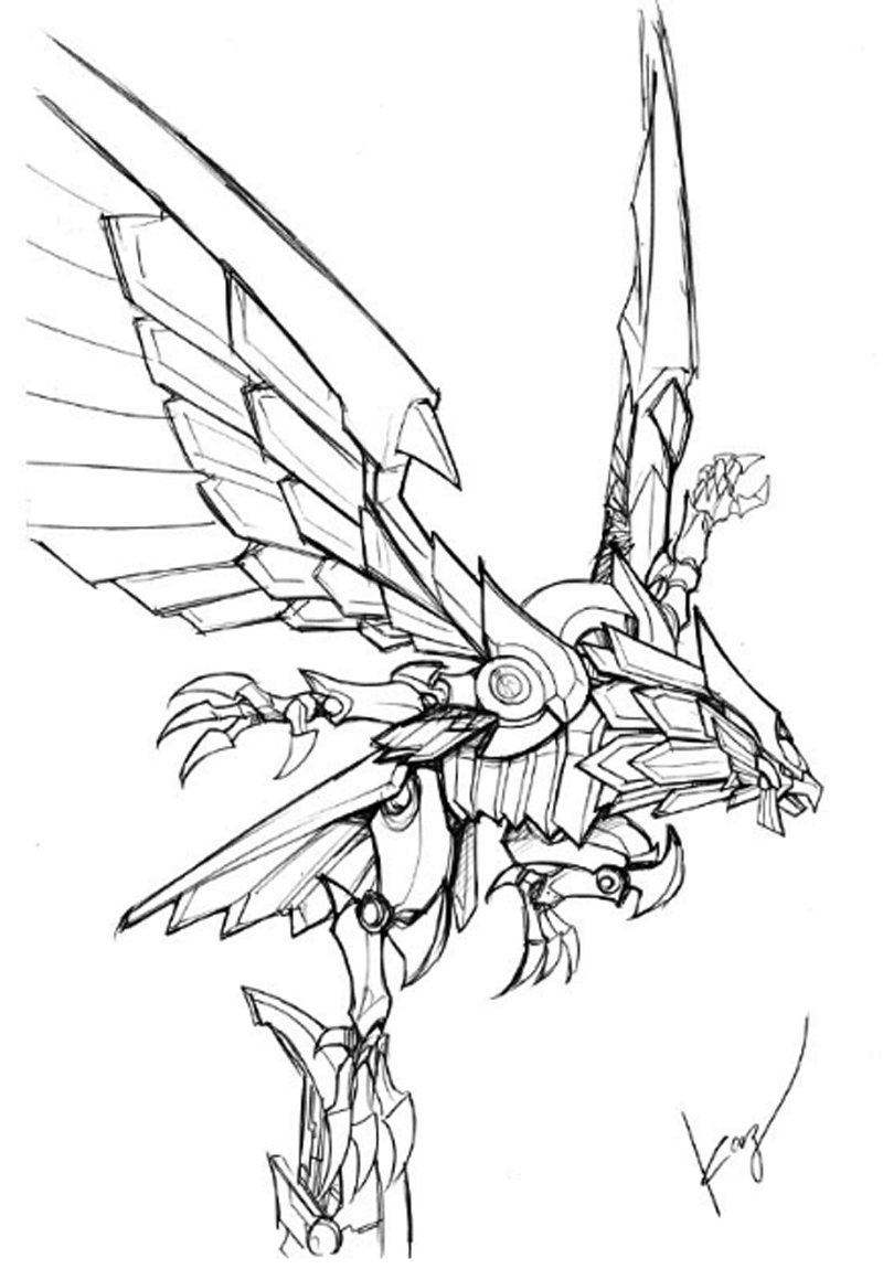 Winged Dragon Of Ra Coloring Pages