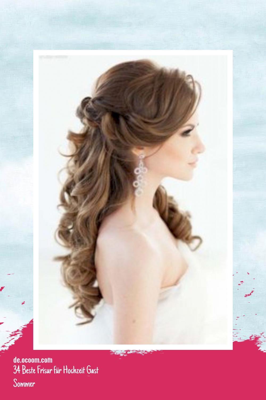 TOP - 9 Beste Frisur für Hochzeit Gast Sommer  Frisur hochzeit