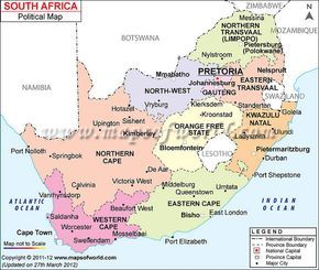 View And Purchase South Africa Political Map Wwwmapsofworldcom - South africa political map