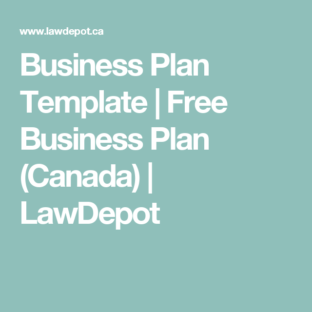 business plan template free business plan canada lawdepot