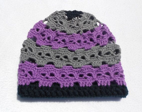 Made to Order - Crocheted Adult Size Skull Beanie Hat - In Colors Of ...