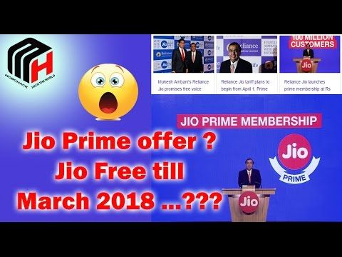 Jio Unlimited Free till March 2018
