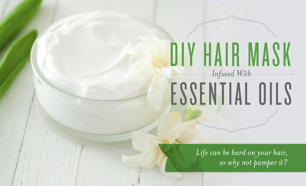 DIY hair mask infused with essential oils Recipe Diy