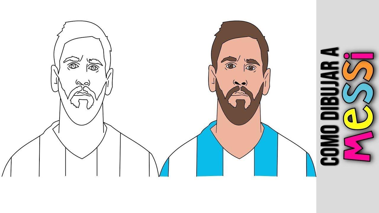 Lionel Messi Como Dibujar A Lionel Messi Dibujos Animados Dibuj Messi Dibujo Dibujos Animados Dibujos