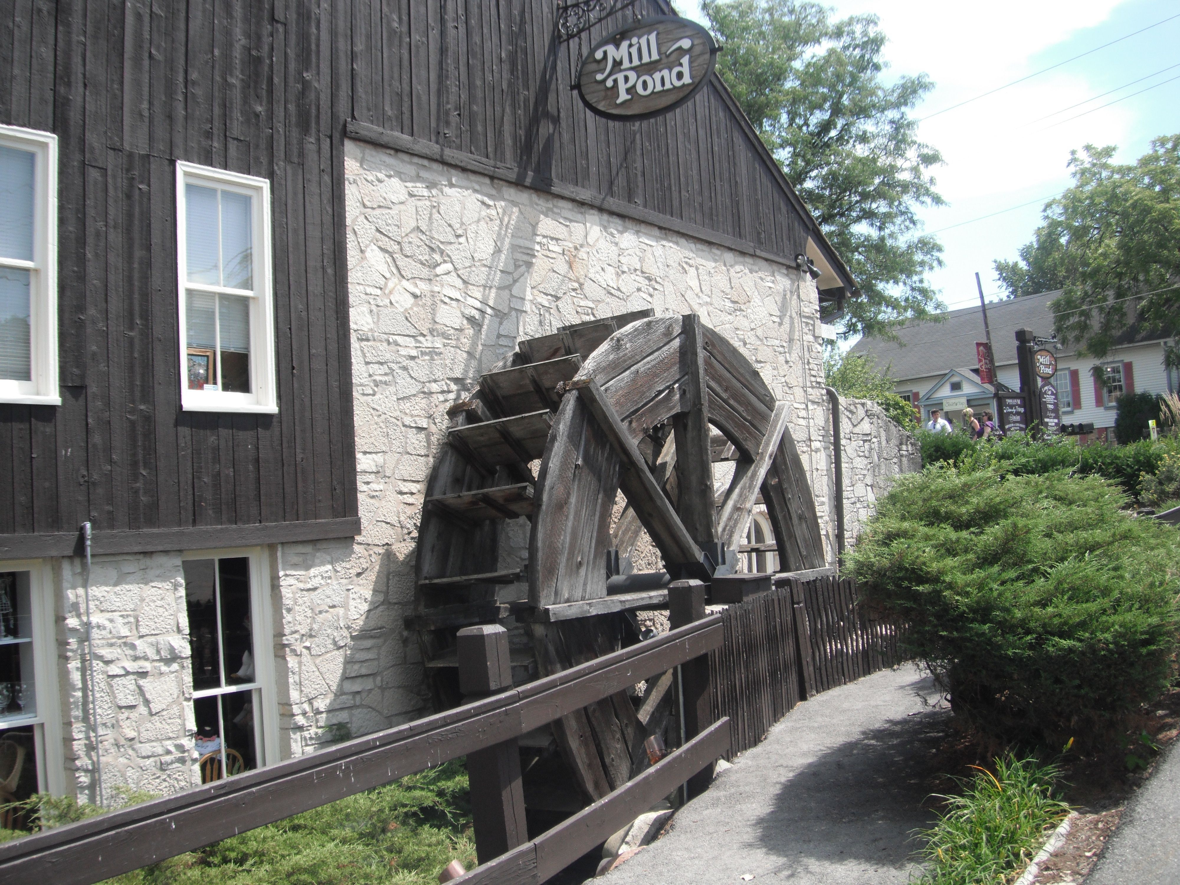 Mill Pond water wheel Long Grove IL