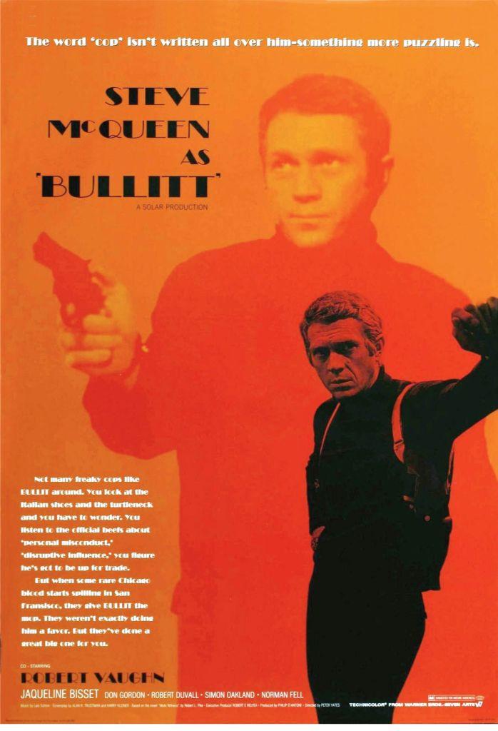 "Bullit Steve McQueen Movie Art on Canvas 24/""x36/"" Canvas Art Print"