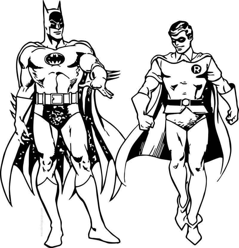 Batman And Robin Walking Coloring Page Batman And Robin Coloring Pages Batman