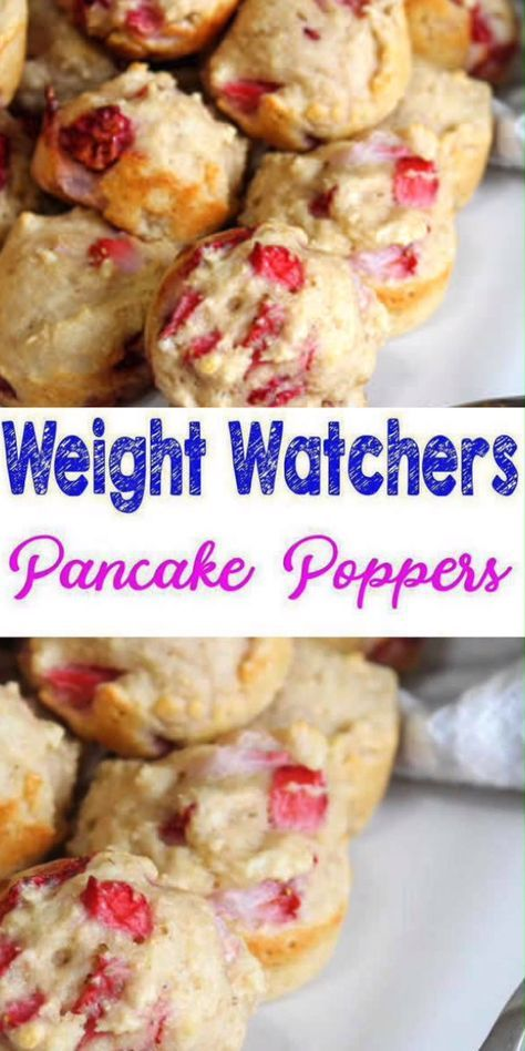 Weight Watchers Strawberry Pancake Bites – BEST WW Recipe – Breakfast – Treat – Snack with Smart Points images