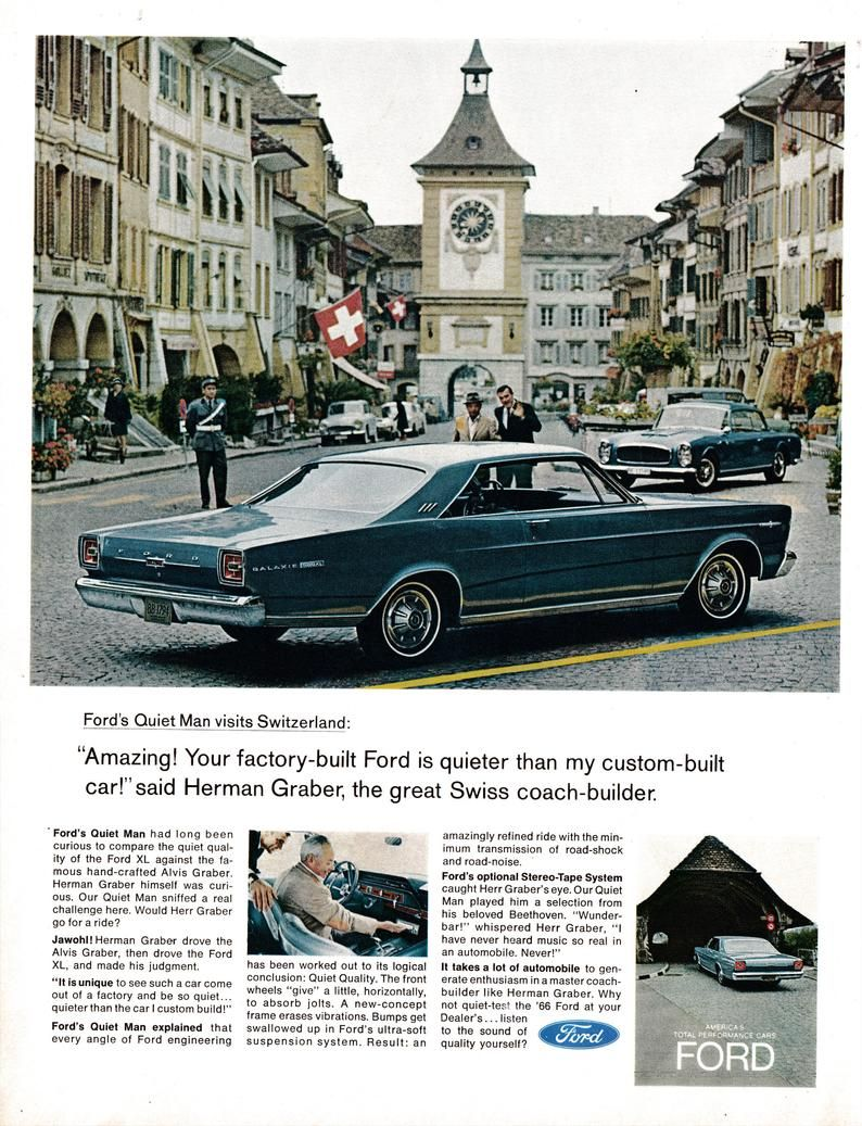 1966 Ford Galaxie 500 XL-Herman Graber Builder Original 13.5 * 10.5 Magazine Ad