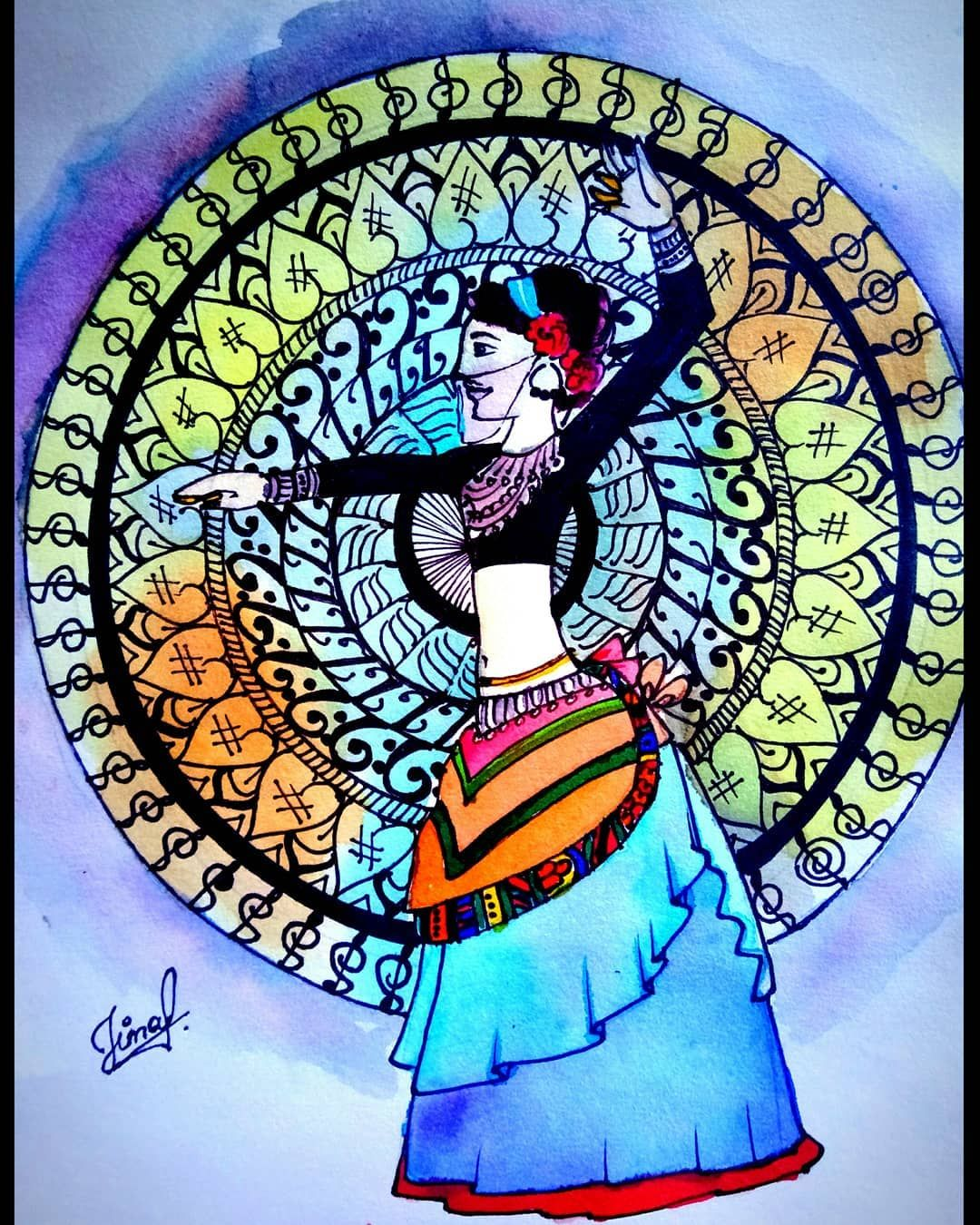 #twinklecolors #artworkby @jinu_vora #artlovers #art # ...
