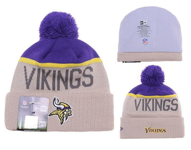 801f2634faa Mens Womens Minnesota Vikings New Era 2016 NFL Gray Sport Vivid Team Logo  Cuff Knit