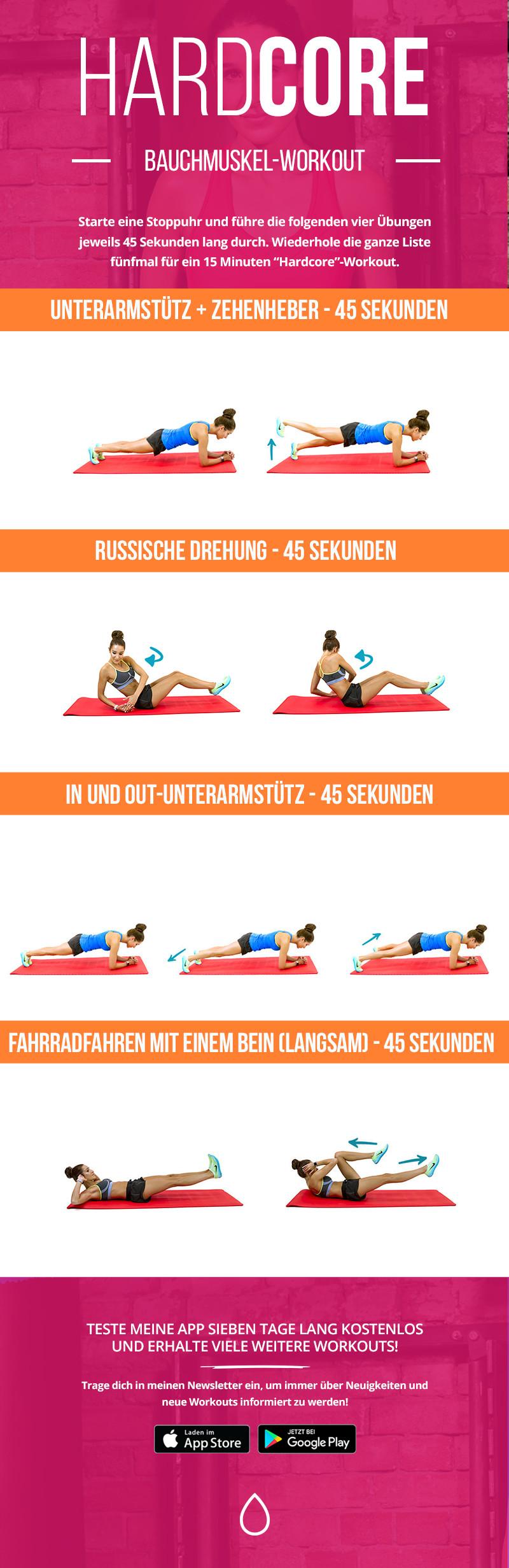 HardCORE-Workout für eine starke Rumpfmuskulatur – Kayla Itsines ...