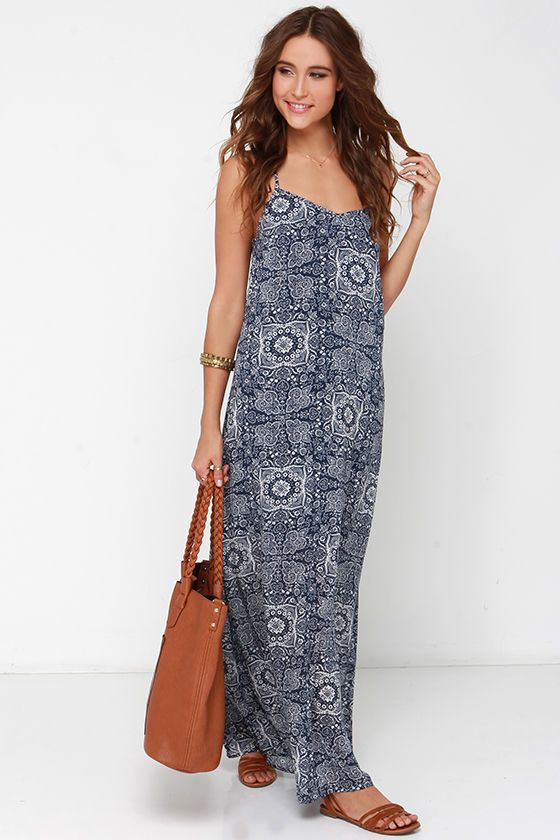 Casual Maxi Dress with Train