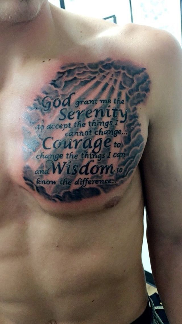 Pin By Chuckie Ware On Tattoo With Images Scripture Tattoos Prayer Tattoo Chest Tattoo