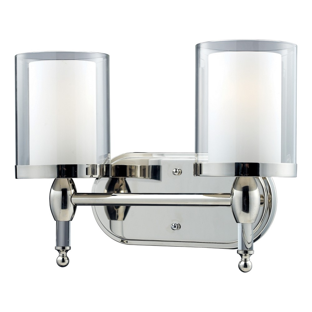 Vanity wall lights with clear outside matte opal inside glass set