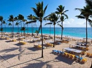Punta Cana Dominican Republic Ocean Blue And Sand Resort It Really Looks Like This