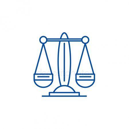 Libra, the zodiac sign line icon concept. Libra, the zodiac sign flat vector sy ,