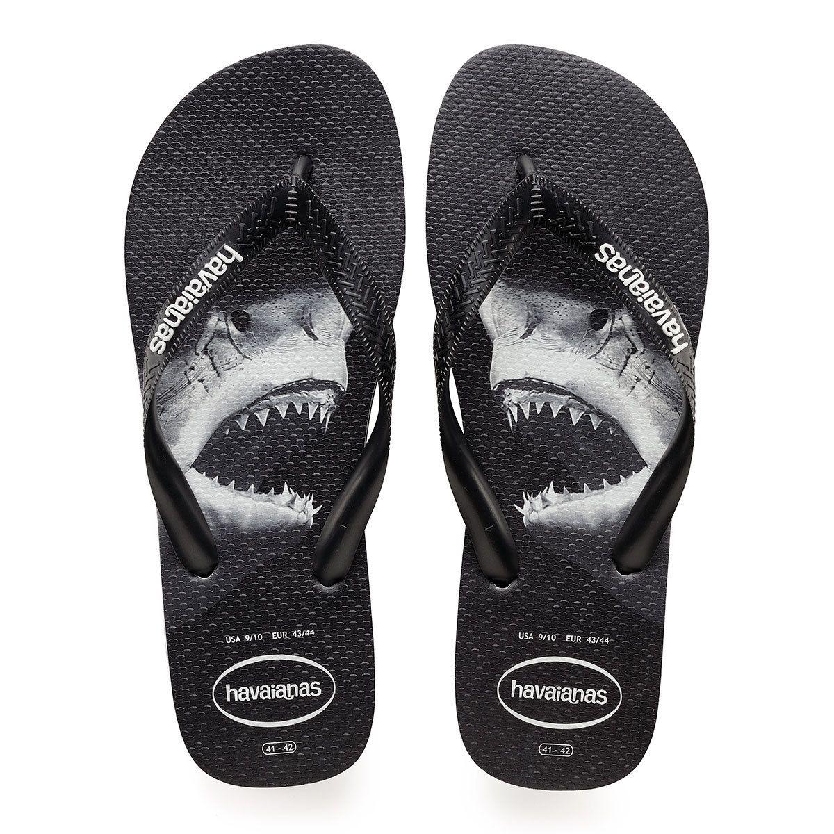 Toe post Havaianas Top Photoprint Black//White Thong Sandals  Men/'s