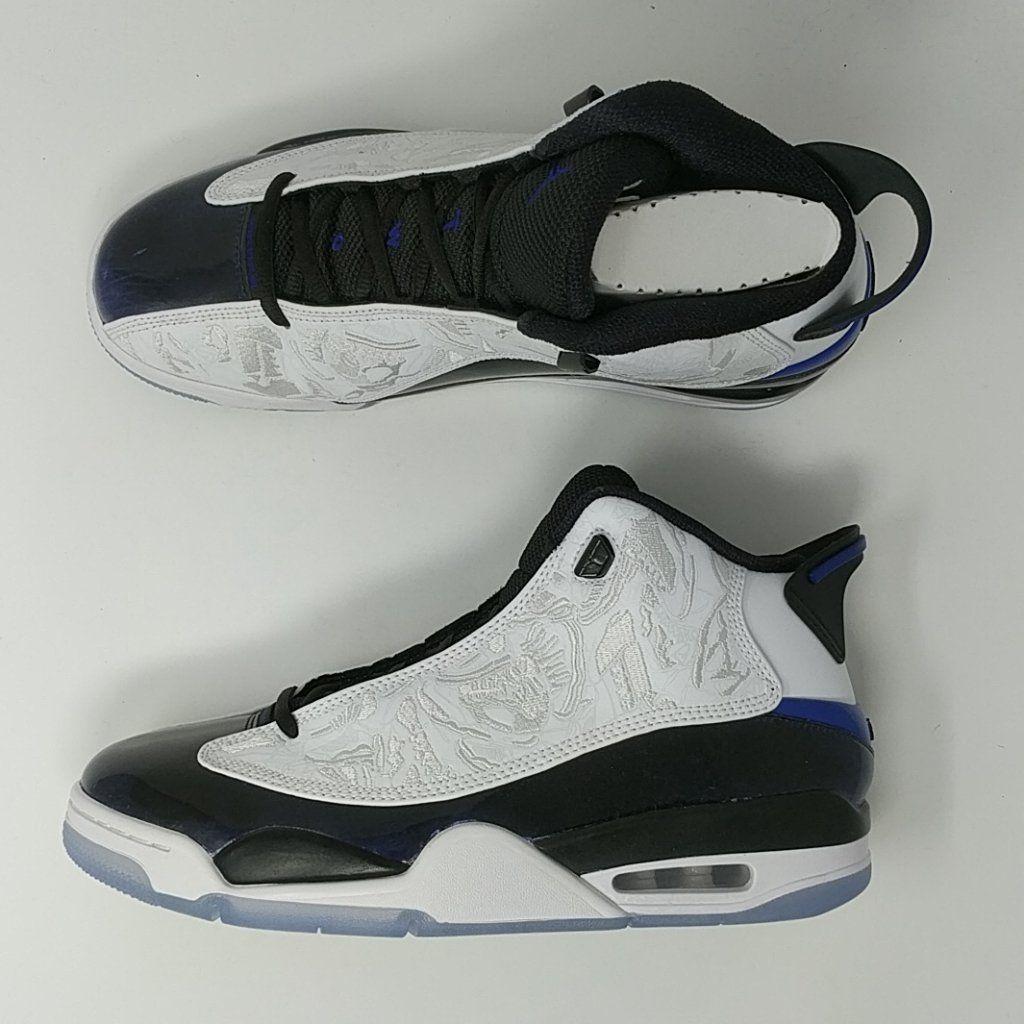 3889c1954985 Nike Air Jordan Dub Zero Shoes White Concord Blue Black White SZ ( 311 –  LoneSole