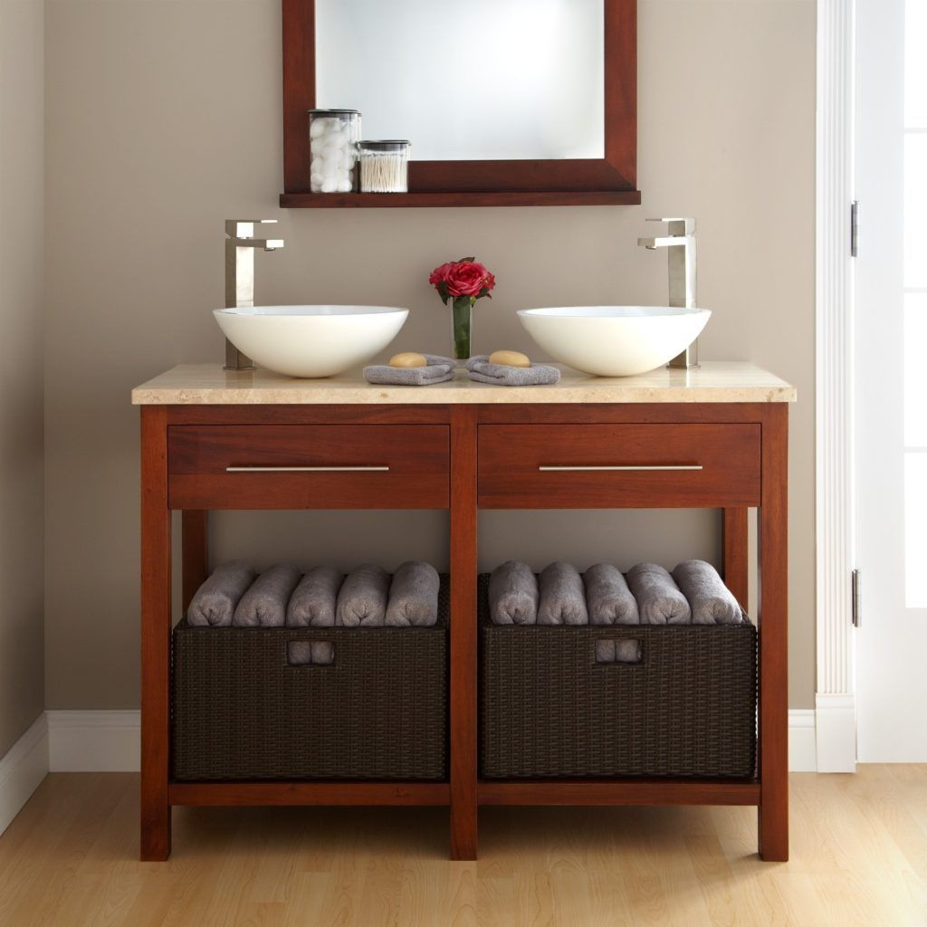 48 Open Shelf Bathroom Vanity With Images Small Bathroom