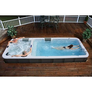 Ultimate Dual Temperature Stereo Swim Spa With 43 Adjustable Stainless Steel Jets 6 Variable Flow Swim Jets Swim Spa Hot Tub Swim Spa Hot Tub Outdoor