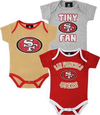 6b97d6974 San Francisco 49ers Newborn Tiny Fan 3 Piece Creeper Set