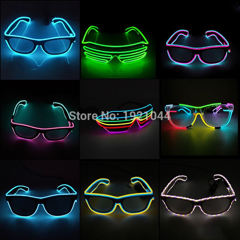3aaf17345271 Double Colors Sound Activated EL wire Led Glasses Lighting Colorful Glowing  Glasses Luminous glasses For Party Decoration Gifts   Price   6.87   FREE  ...