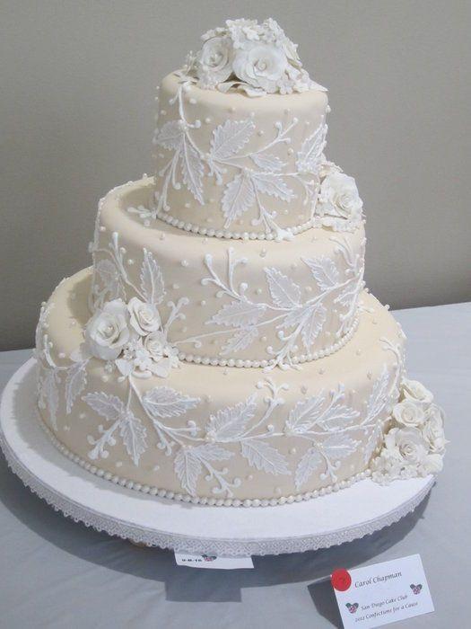 Brush Embroidery Cake By Sugarlicous Cakesdecor Wedding Cakes