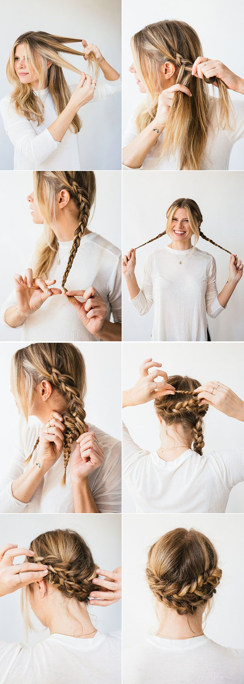 Horseshoe Braid A Cup Of Jo Hair Styles Easy Braids Easy Hair Updos