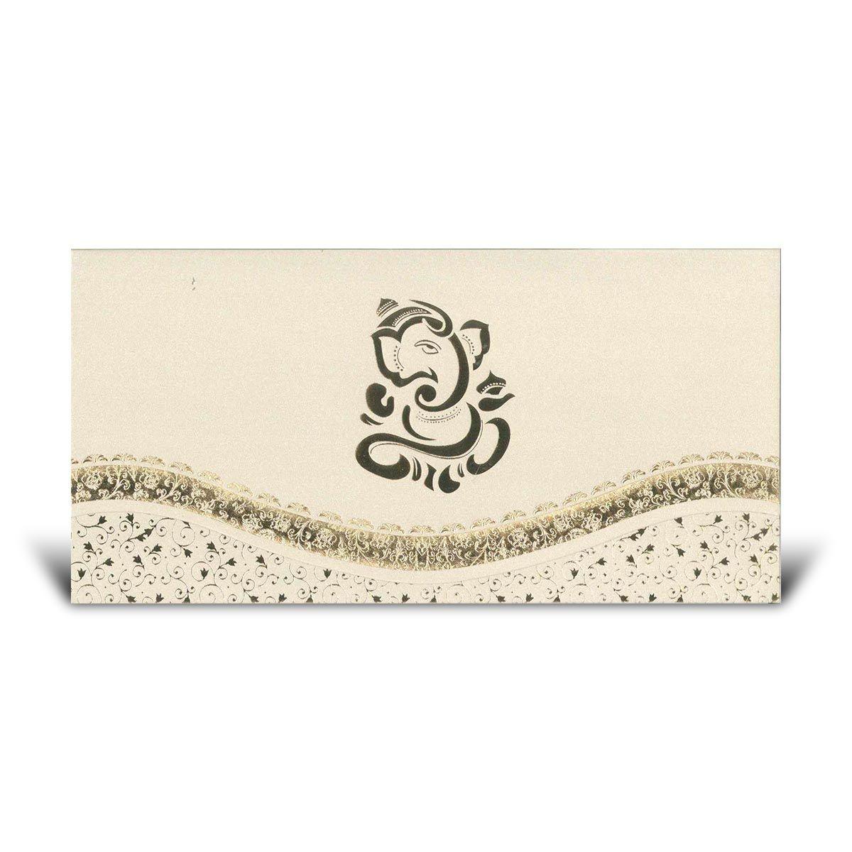 Hindu Invitation Cards : CF K12 - Elegant Invitation Card - Fits in ...