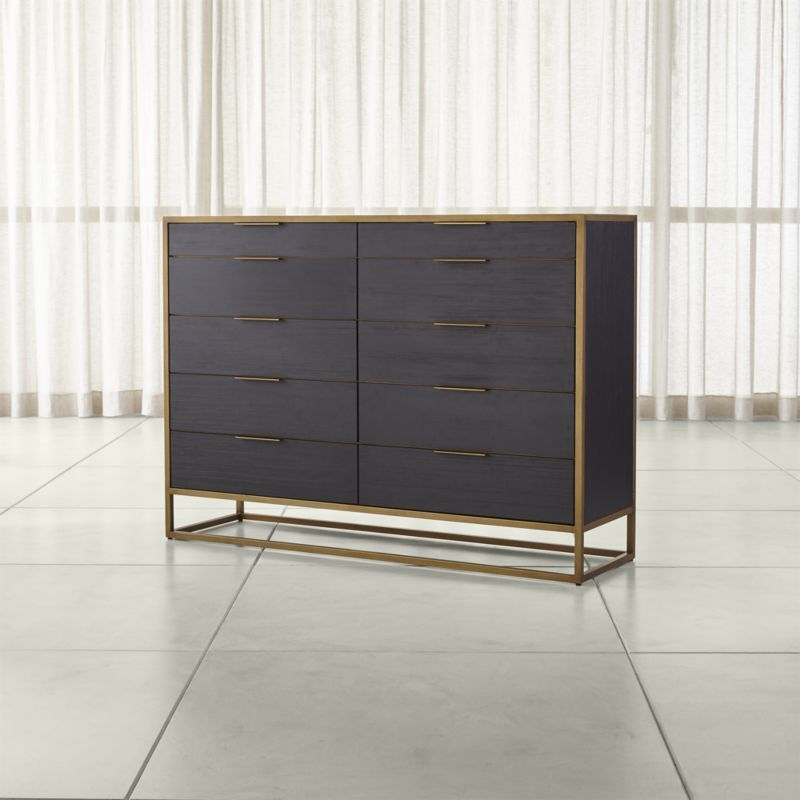 Oxford Black 10 Drawer Tall Dresser Reviews Crate And Barrel Tall Dresser Furniture Modern Chest Of Drawers