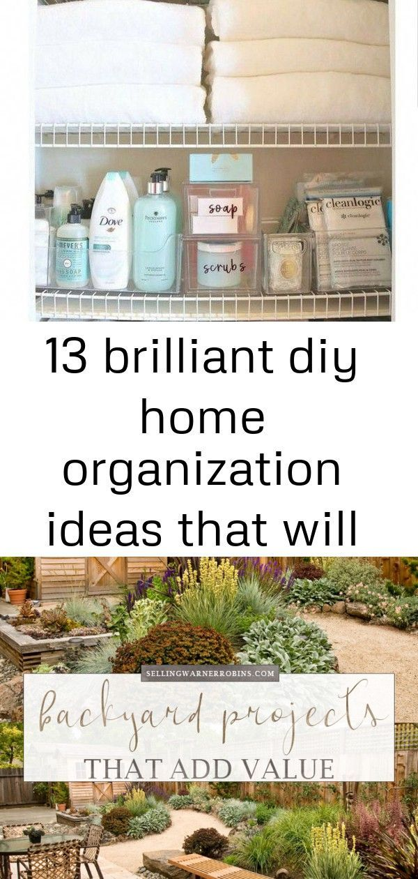 13 brilliant diy home organization ideas that will blow you away 5 #summerhomeorganization Looking for ways to organize your home? You will love these diy home organization hacks! #homeimprovementhacks Looking for a backyard project to do with summer approaching? This collection of backyard home improvement projects ranges from easy to extensive and will transform your outdoor living area while simultaneously adding value to your home. #realestate #realestatetips #backyard #backyardlandscaping # #summerhomeorganization
