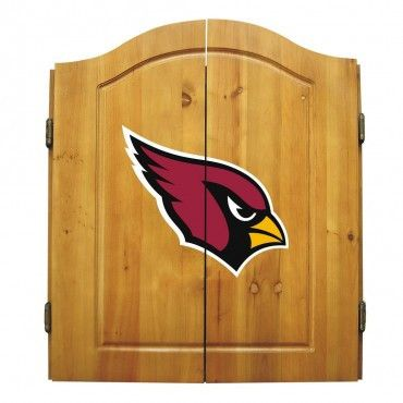 The Arizona Cardinals Dart Board Cabinet with dartboard and darts go great in any man cave or game room