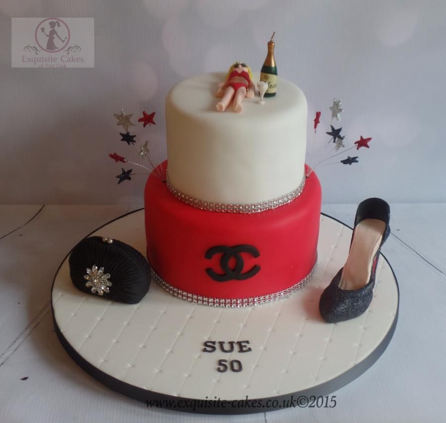 50th Birthday Cake Cake By Natalie Wells Exquisite Cakes Made By