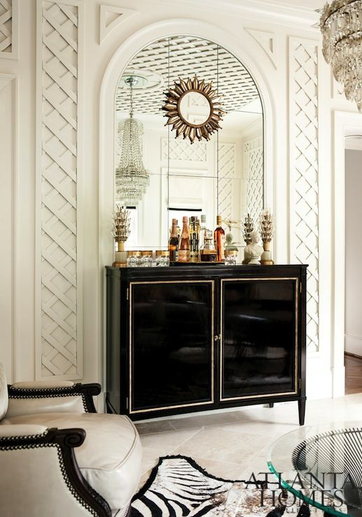 Interior Design Bar Cart Cabinet For Cocktails Drinks Margaux Interiors Limited