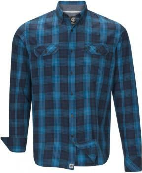 $118 Camisa hombre Timberland azul cuadros