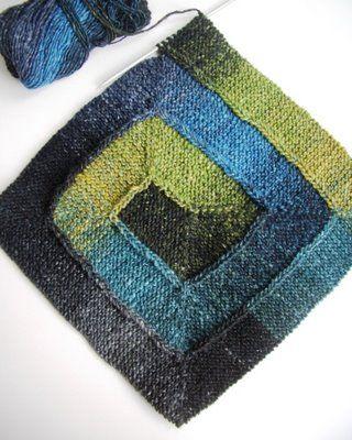 Spiral Knit Self Striping Blanket Pinterest