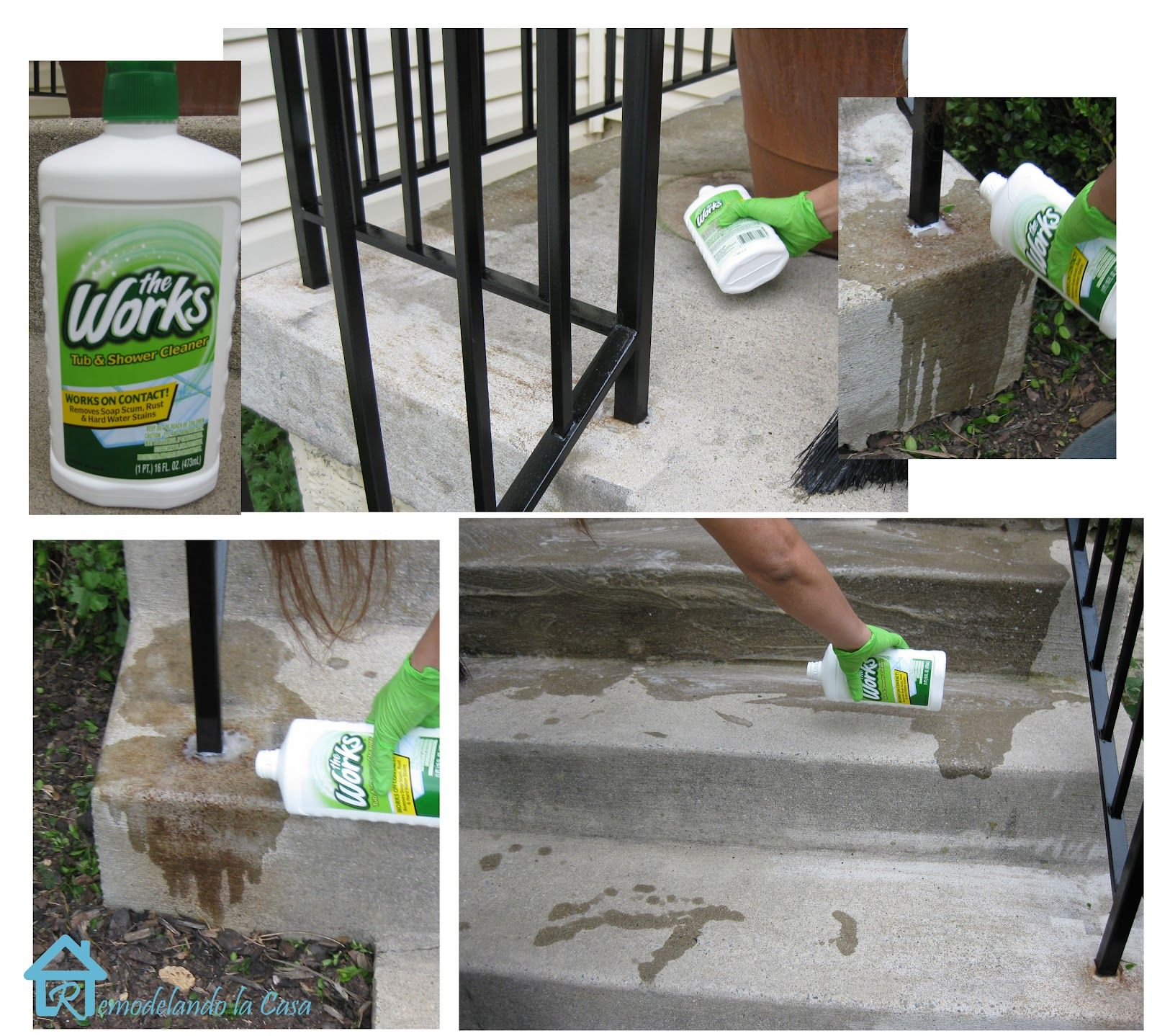Get rid of rust on concrete concrete remove rust from