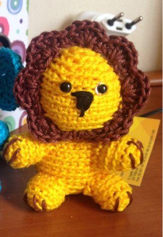 Modernizando O Crochê Enfeite Porta De Maternidade Ii Mini Leão
