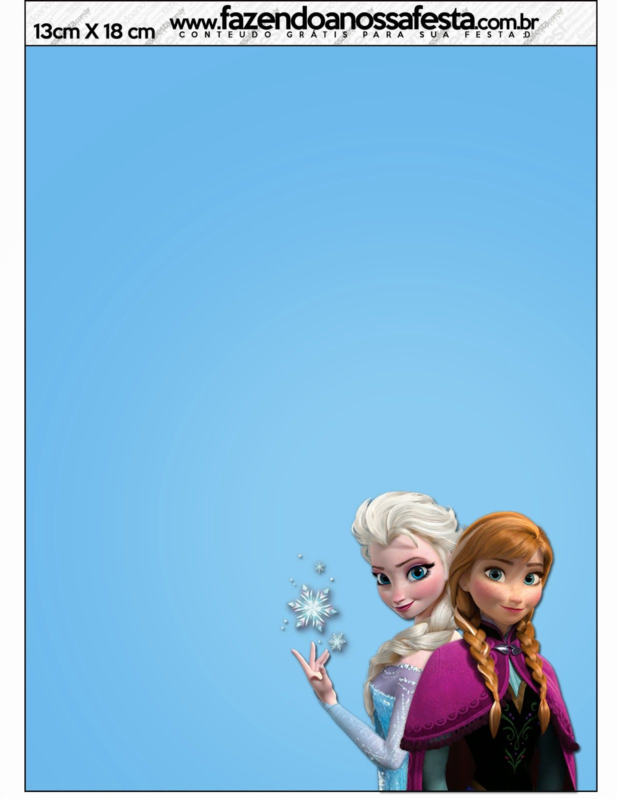 Frozen Free Printable Cards Or Party Invitations Girls Birthday