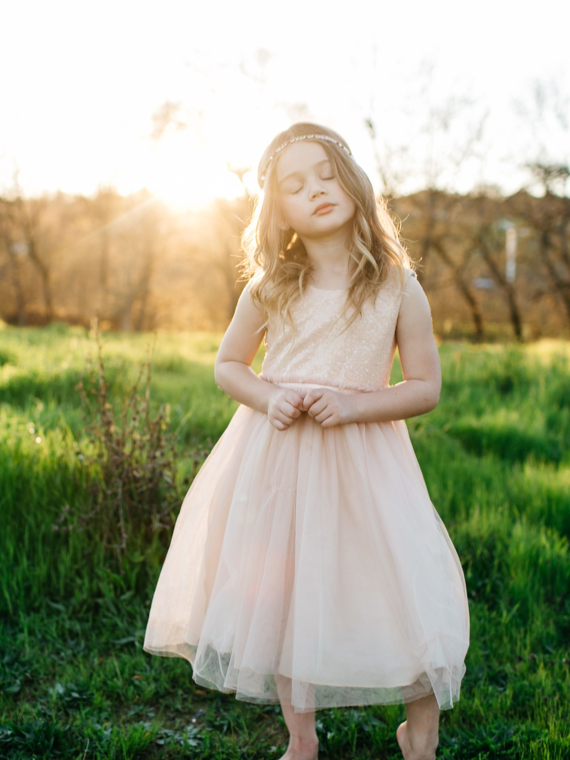 3b415c6c1 Jenny Yoo Flowergirl, The Rosalie flower girl dress has a sequined top and a  soft tulle tea length skirt. The sleeveless top and A-line skirt maintains a  ...