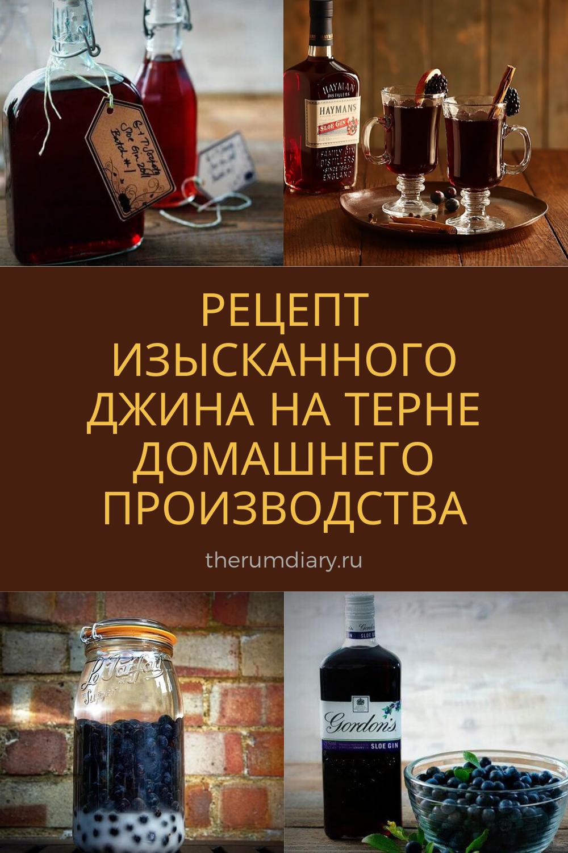 Рецепт тернового джина в домашних условиях | Ромовый ...