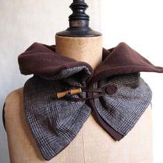 Col écharpe homme polaire marron et laine style tartan, tour de cou casual  chic homme d6950bd537b