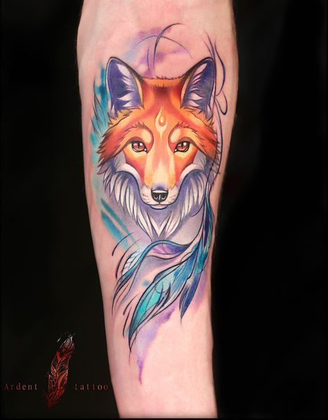 Tattoo Traditional Fox Tat 39 Ideas For 2019 In 2020 Animal Tattoos Red Fox Tattoos Watercolor Fox Tattoos