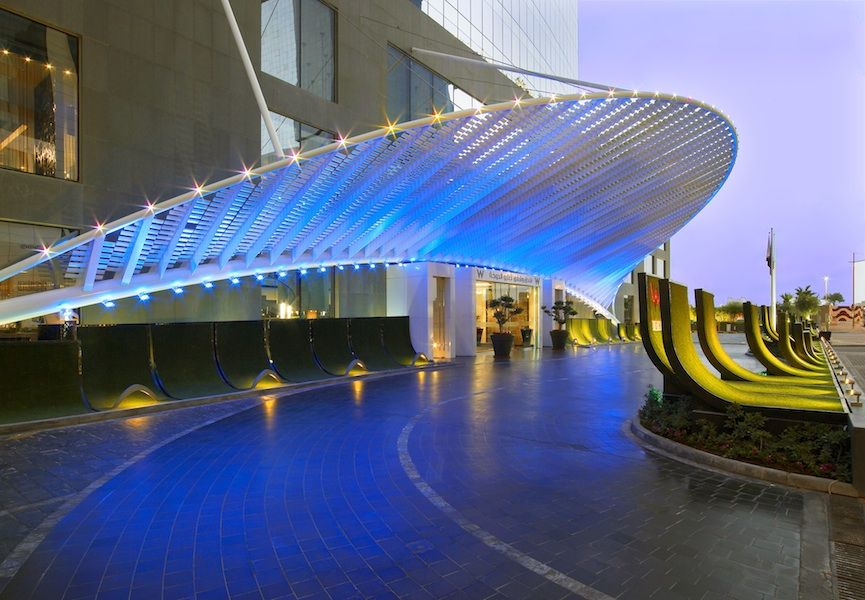 The Grand Entrance Of The W Doha